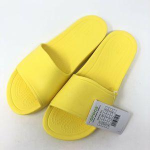 Crocs Sloane Slide Sandals Size 11 Yellow New